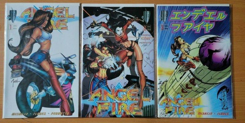 Angel Fire 1-3 Complete Set Run! ~ NEAR MINT NM ~ 1997 Crusade Comics GGA Shi