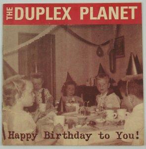 Duplex Planet: Happy Birthday to You! - david greenberger - simple machines zine