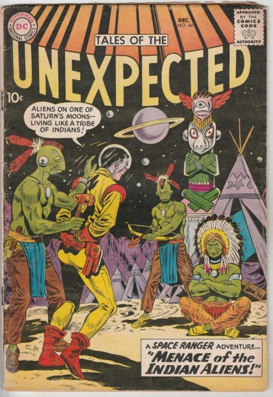 Tales of the Unexpected #44 (Dec-59) VG+ Affordable-Grade Space Ranger, Cyrl