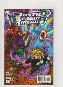 Justice League of America #4 NM- 9.2 DC Comics 2007 Batman, Michael Turner Cover
