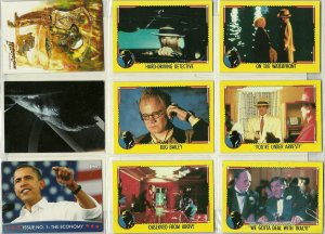 Dick Tracy/Indiana Jones/X-Men/Obama Trading Cards
