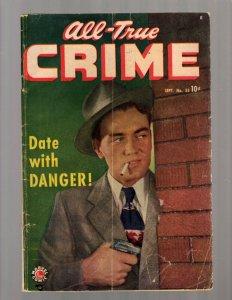 All True Crime # 35 VG Marvel Golden Age Comic Book Photo Cover Date Danger JK7