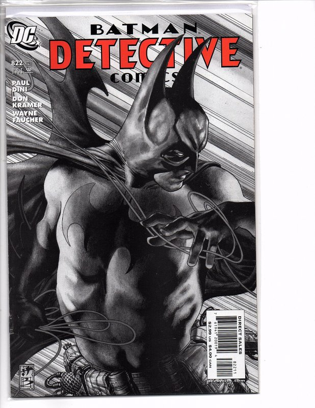 DC Comics Detective Comics #822 Batman; Paul Dini Story Simone Bianchi Cover