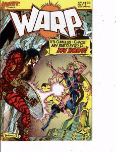 Lot Of 2 Comic Books First Warp #2 and Aircel Warlock 5 #2  MS12