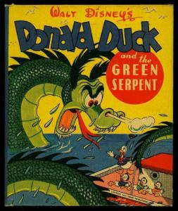 Donald Duck & the Green Serpent Big Little Book Carl Barks Whitman 1947 VG-