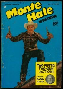 Monte Hale Western #44 1950-GABBY HAYES-photo cover VG