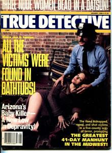 True Detective 8/1984-spicy babe-baby killer-3 nudes dead in a Datsun-VG