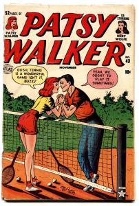 Patsy Walker #43 tennis cover 1948-Atlas-Hedy Wolf-Al Jaffee-paper dolls