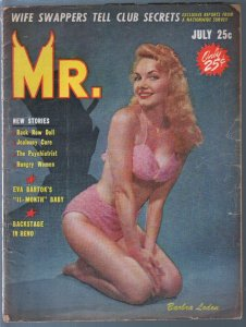 Mr. 7/1958-cheesecake-pin-up pix-Barbara Loden-Eva Bartok-Reno NV-G/VG