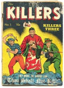 THE KILLERS #1-1947-L.B. COLE-SOTI-PRE-CODE CRIME--WEIRD MENACE
