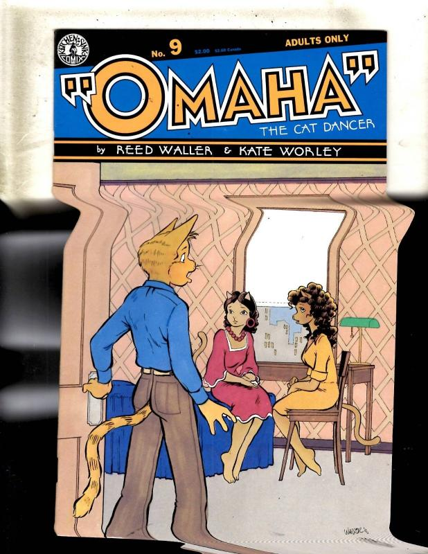 Lot Of 10 Omaha Kitchen Sink Comic Books # 9 10 11 12 13 14 15 16 17 18 JF1