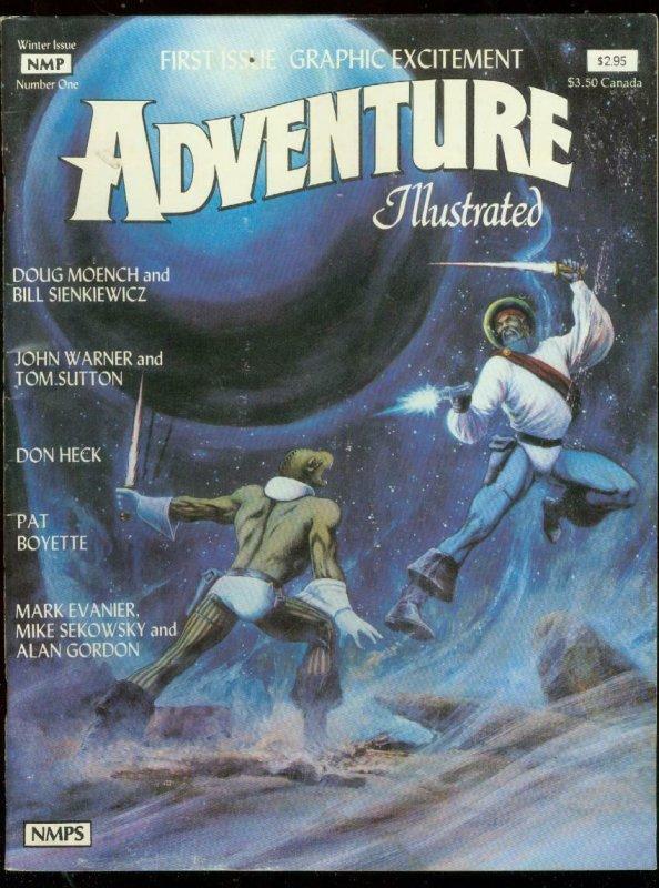 ADVENTURE ILLUSTRATED #1 1981-DON HECK-BOYETTE-EVANIER G