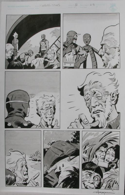 TIGRESS TALES #5 Original Mike Hoffman art, Page #23, Signed, published