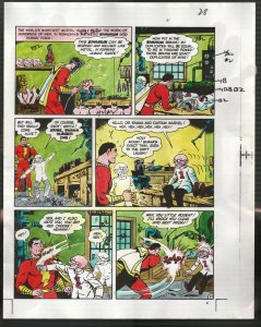Hand Painted Color Guide-Capt Marvel-Shazam-C35-1975-DC-page 28-Dr Sivana-VG/FN
