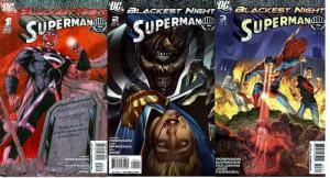 BLACKEST NIGHT SUPERMAN (2009) 1C,2-3  COMPLETE!