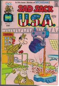 SAD SACK USA (1972-1973) 7 VG+ Nov. 1973