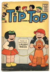 Tip Top Comics #206 1957- PEANUTS- Nancy VG