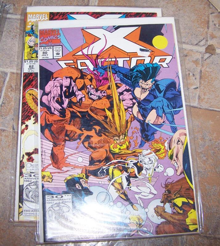 X-Factor  80 JULY  1992 marvel   MADDOX HAVOC POLARIS WOLFSBANE
