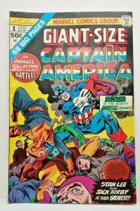 GIANT-SIZE CAPTAIN AMERICA #1, Stan Lee, (1975) vs Hulk and Captain America  VF