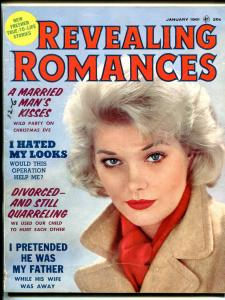 Revealing Romances Magazine January 1961- pulp thrills- VG/FN