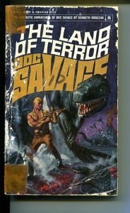 DOC SAVAGE-THE LAND OF TERROR-#8-ROBESON-1ST ED-G-COVER DOUG ROSA G