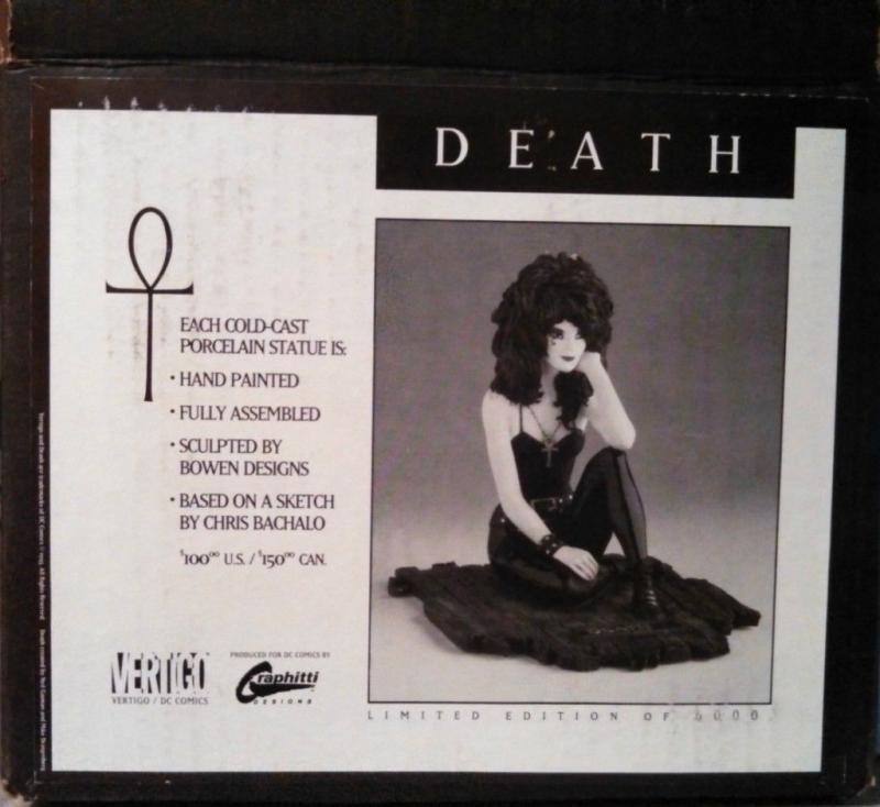 DEATH Statue, Neil Gaiman, Randy Bowen 1993 MIB more Vertigo in store Full size