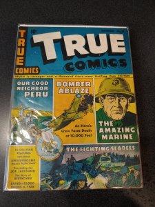 TRUE COMICS #37  GOLDEN AGE CLASSIC VG
