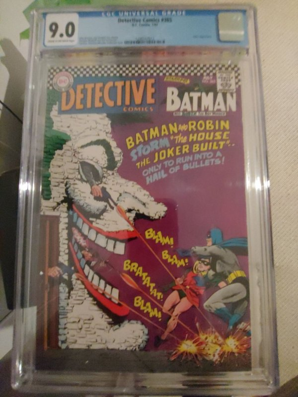 DETECTIVE COMICS #365 CGC 9.0 FAMOUS JOKER COVER.