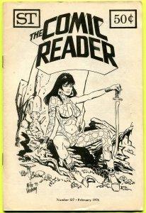 The Comic Reader Fanzine #127 Street Enterprises 1976 Vosburg Starfire Cover