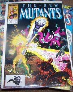 NEW MUTANTS  # 54  1987  MARVEL X MEN  hellions hellfire club