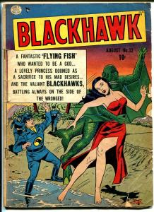 Blackhawk  #32 1950-Quality-Fish man-spicy babe-Reed Crandall-G