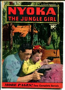 Nyoka #25 1948-Fawcett-jungle thrills-Clayton Moore-Kay Aldridge-Babe Ruth-G/VG
