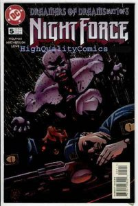 NIGHT FORCE #5, NM+, Demons, Blood, Horror, Wolfman, 1996 1997