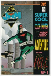 The Jam Urban Adventure #1 Super Cool Color Injected From Hell May 1988 Comico