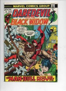 DAREDEVIL #95 FN- Gene Colan, Murdock, Black Widow, 1964 1973, more Marvel in st