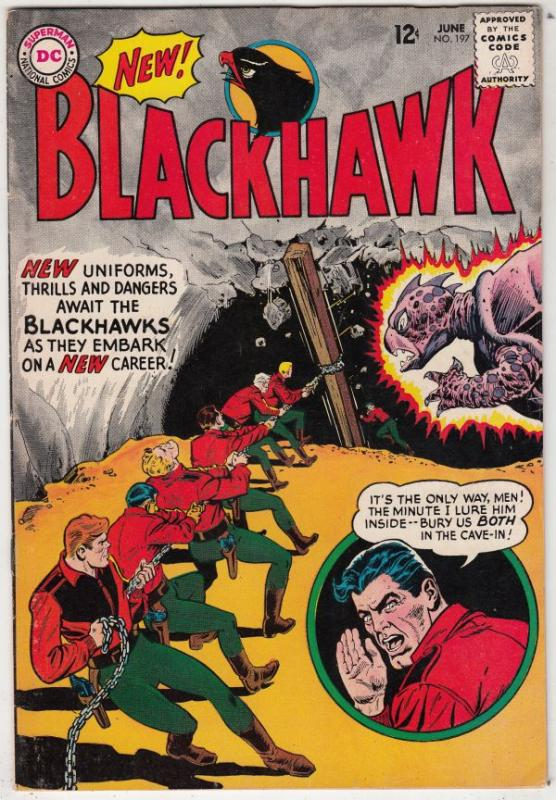 Blackhawk #197 (Jun-64) VF/NM High-Grade Black Hawk, Chop Chop, Olaf, Pierre,...