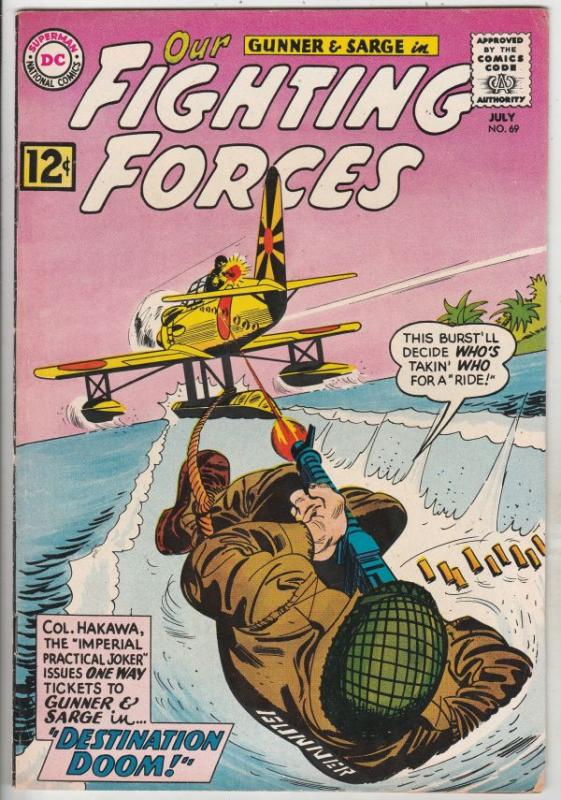 Our Fighting Forces #69 (Jul-62) VF+ High-Grade Gunner and Sarge, Pooch