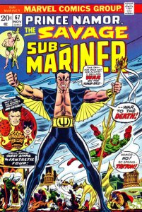 Sub-Mariner #67 (7.5) 1973 First Appearance All-New Costume! stock photo Marvel