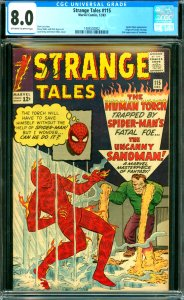 Strange Tales #115 Spider-Man appearance. Origin of Doctor Strange. 2nd appea...