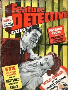 FEATURE DETECTIVE-JULY 1943-BARGAIN-SPICY-MURDER-RAPE-ORGIES FR/G