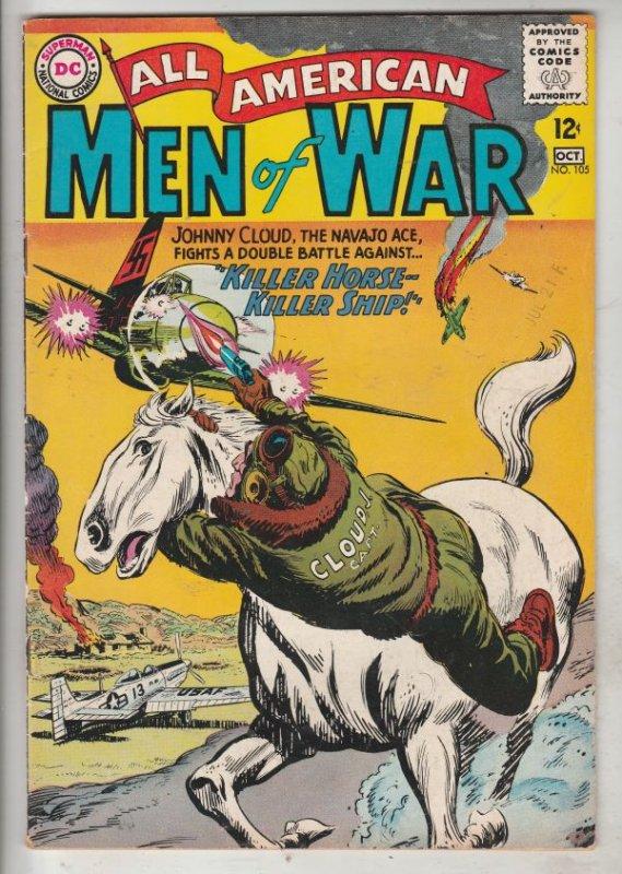 All-American Men of War #105 (Oct-64) VF High-Grade Johhny Cloud