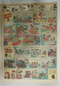 Mickey Mouse Sunday Page by Walt Disney from 11/18/1945 Tabloid Page Size