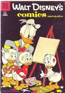 Comics and Stories, Walt Disney's #199 (Apr-57) VG/FN Mid-Grade Donald Duck, ...