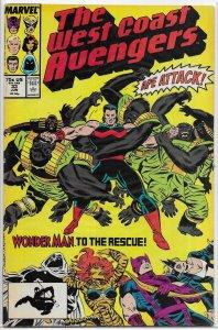 West Coast Avengers (vol. 2, 1986) #33 VG Englehart/Milgrom, Moon Knight
