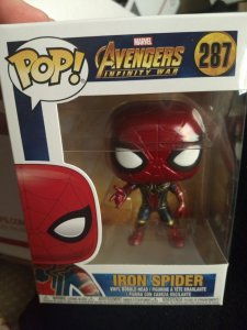 The Iron Spider-man Funko Pop #287 New in box
