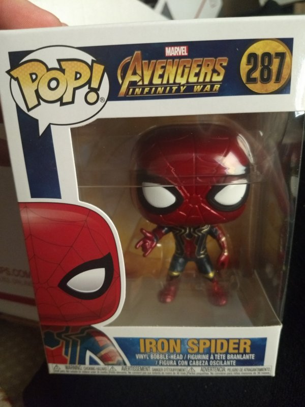 The Iron Spider-man Funko Pop #287 New in box