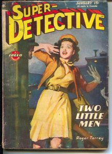 Super-Detective 1/1946-Good Girl Art cover-hardboiled pulp fiction-Roger Torrey-
