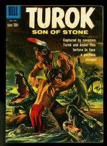 Turok Son of Stone #22 1960- Dell Comics- Indians & Dinosaurs- FN/VF