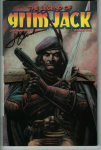 the Legend of Grimjack TPB #1 VF signed by John Ostrander - IDW 2005