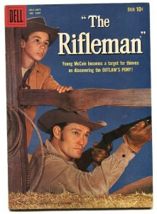 RIFLEMAN #1009 1959-DELL-1ST ISSUE-CHUCK CONNORS-JOHNNY CRAWFORD-TV EDITION-fn+